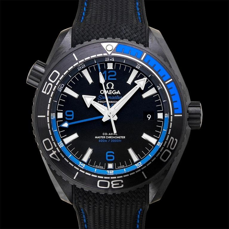 [NEW] Omega Seamaster Planet Ocean 600M Co-axial Master Chronometer GMT 45.5mm Automatic Black Dial Ceramic Men's Watch 215.92.46.22.01.002