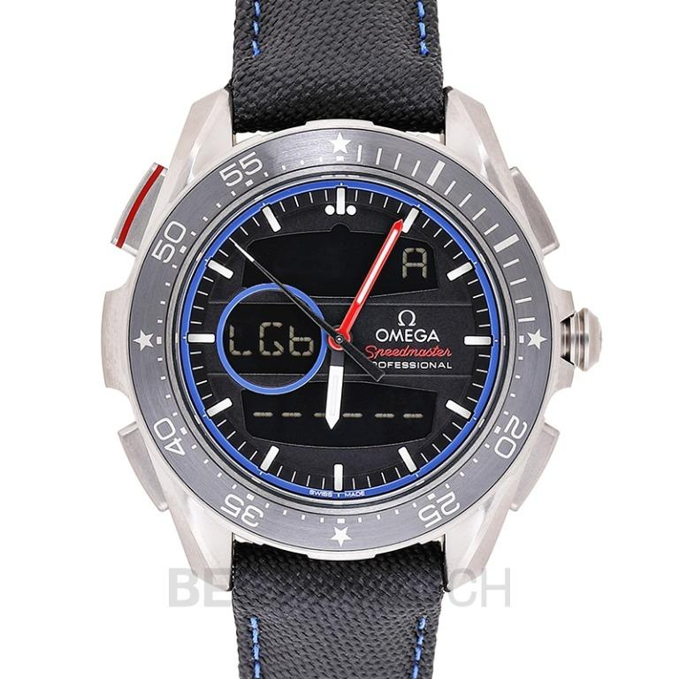 [NEW] Omega Speedmaster X-33 Regatta Chronograph 45 mm Quartz Black Dial Titanium Men's Watch 318.92.45.79.01.001
