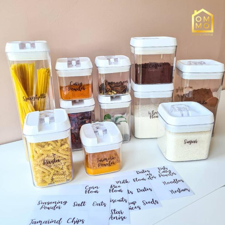 Pantry Sticker For Seal Canister Label Barang Dapur Rempah Ratus Kitchen Appliances On Carousell