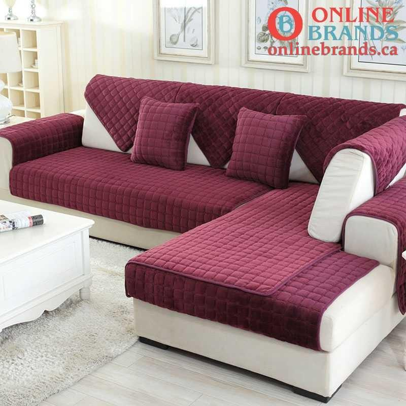 soft velvet sofa cover | couch cover | Online Brands | Free shipping in Canada