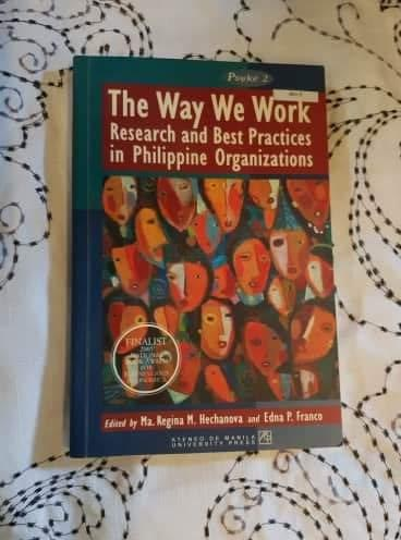 The Way We Work: Research and Best Practices on Philippine Organizations (IO PSYCH)
