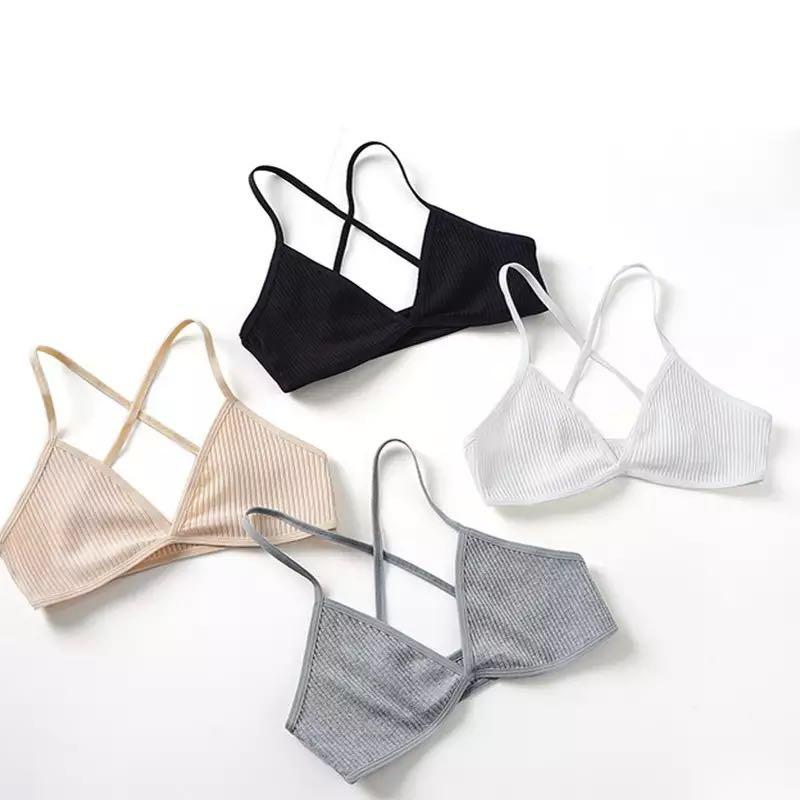 SHIPPING ONLY— Thin Ribbed Seamless Bralettes (4 COLOURS)