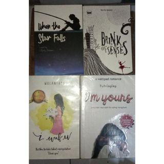 I'm Yours by Putrilagilag, I Wuf U by Wulanfadi, Brink of Senses by Mertha Sanjaya, When the Star Falls by Andry Setiawan