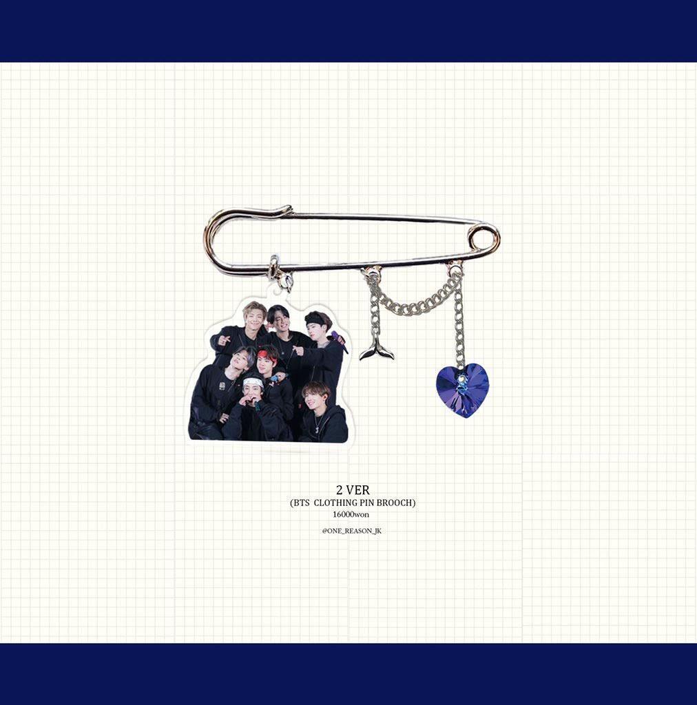 MY GO🇲🇾BTS OT7, Jimin & Jungkook Clothing Pin Brooch
