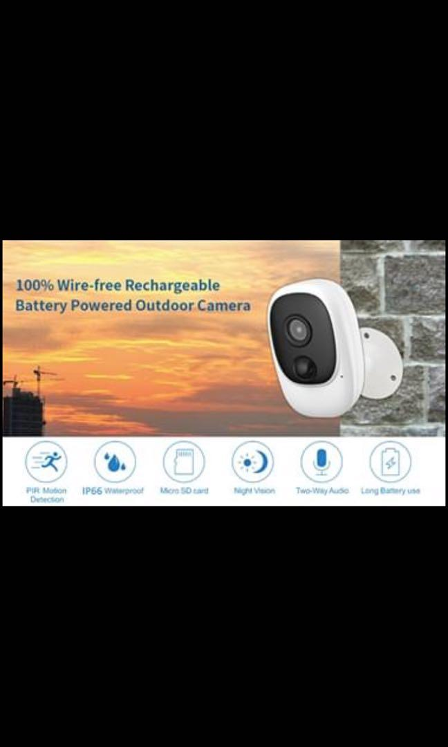 New 100% Wireless Rechargeable Battery 1080P Outdoor Security WiFi Camera