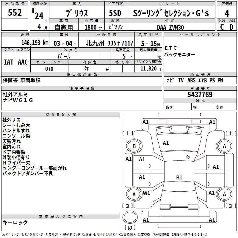 Toyota Prius GS Auto