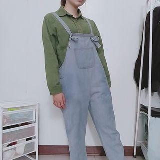 ✳️大口袋吊帶褲