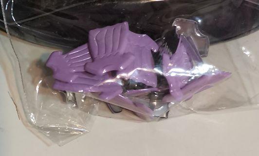 Scrapbooking purple (or pink) dress paper fasteners / Brads  (771-1/2 baby girl kids)