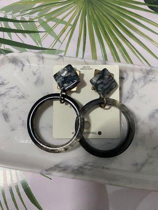 New 大理石渲染耳環