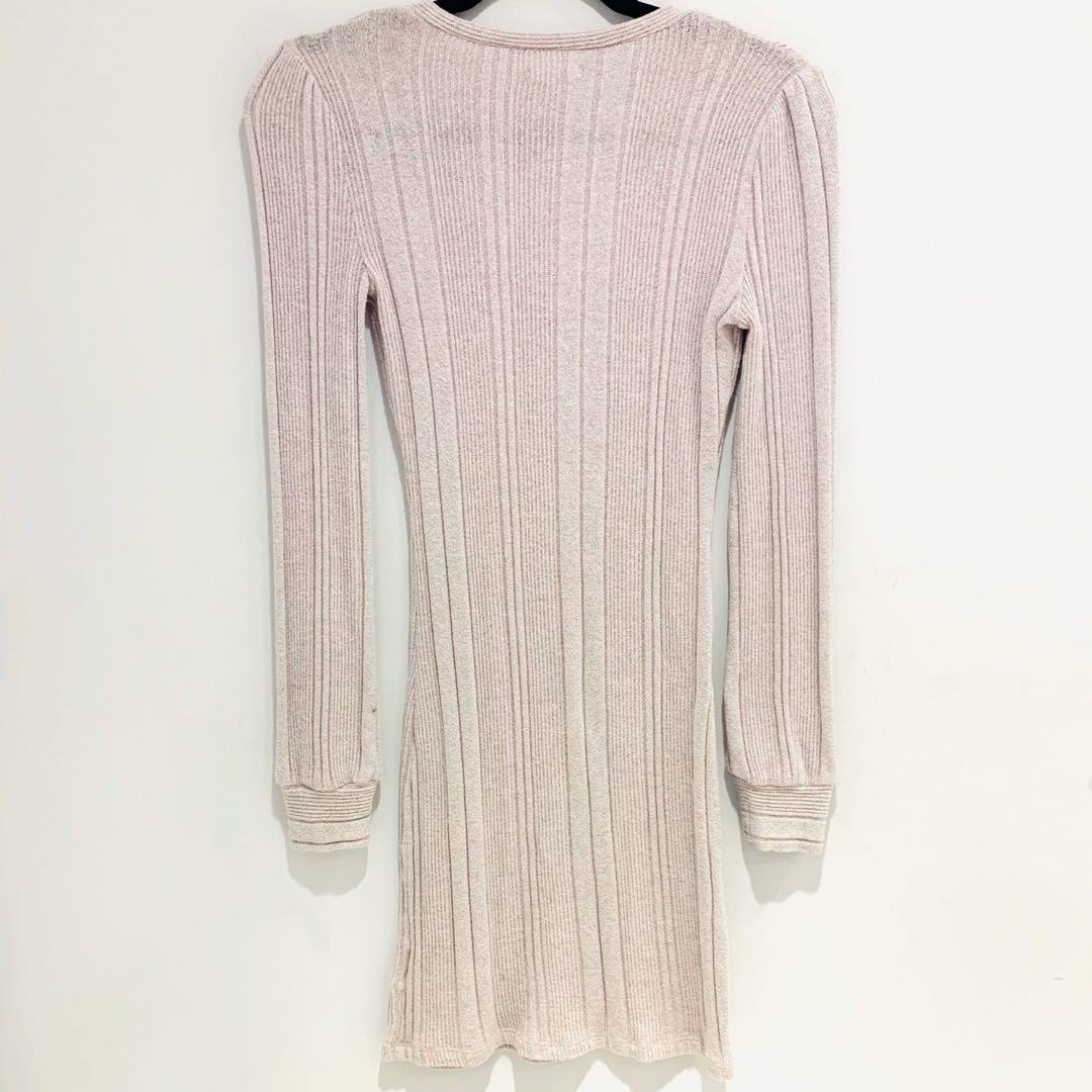 Kimchi Blue   Light Pink Long Sleeve Sweater Dress