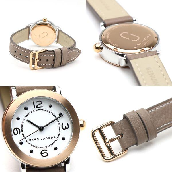 NWOT Marc Jacobs MJ1605 Riley Leather Strap Watch 28mm