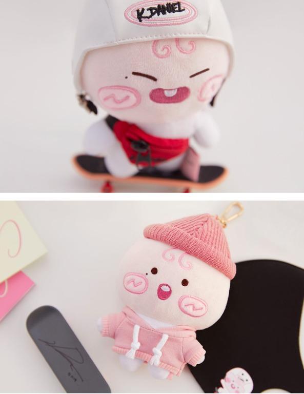 Official Authentic Apeach KANG DANIEL edition mini hipster beanie keyring keychain韩国官方卡信朋友姜丹尼尔联名毛绒迷你屁桃啵啵桃钥匙扣