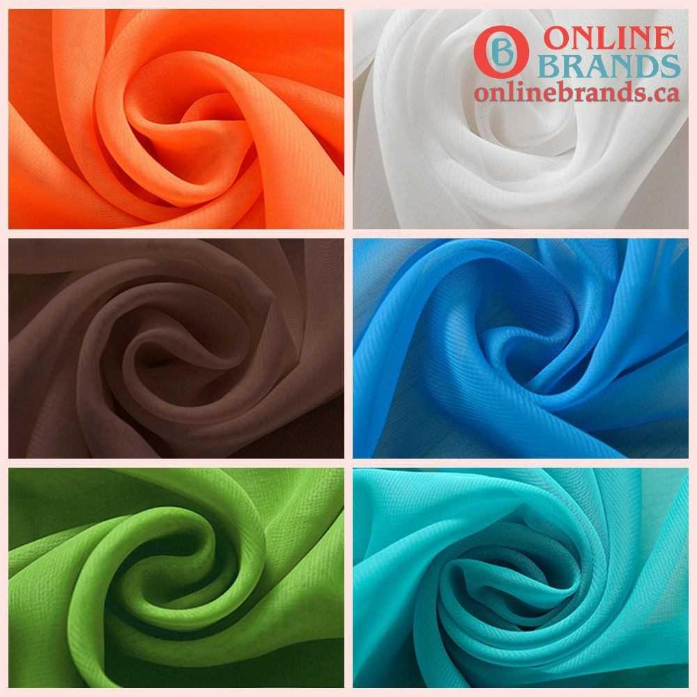 Solid Color Voile Curtain | Free shipping in Canada | Online Brands curtains