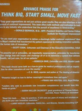 Think Big, Start Small, Move Fast: A Blueprint for Transformation from the Mayo Clinic Center for Innovation