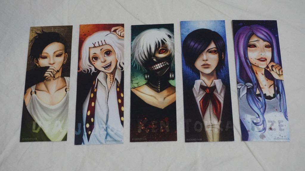 Tokyo Ghoul Anime Custom Character Design Bookmark