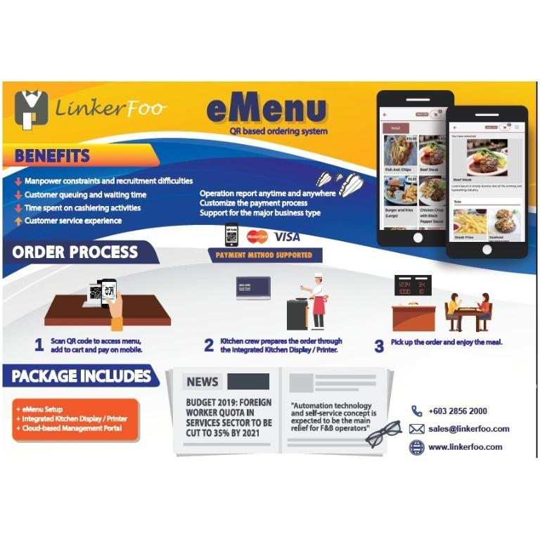 Emenu online order and Delivery tool-Training and Software