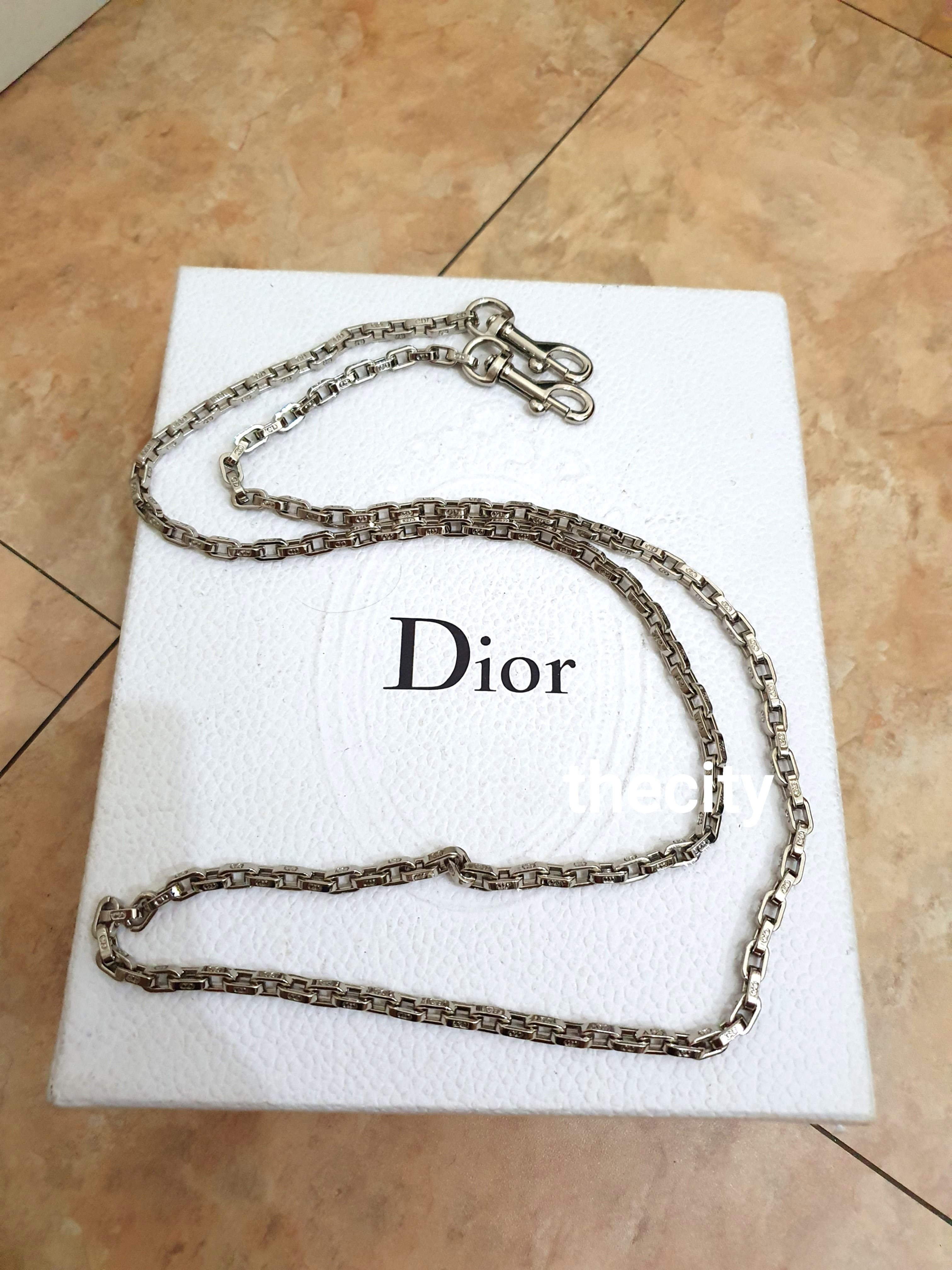 LIKE NEW ! (NEVER BEEN USED) - AUTHENTIC DIOR SILVER STRAP - (TAKEN FROM DIOR BAG SET) -  APPROX 110CM LENGTH