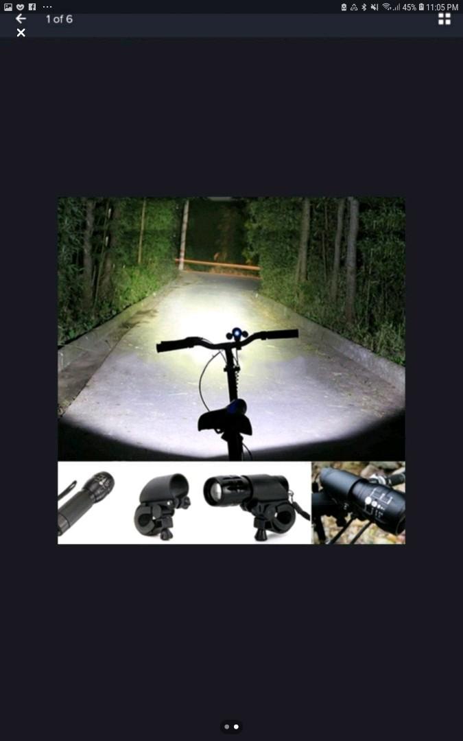 Q5 Led 240 Lumens Bike Bicycle Bright Light Torch Flashlight +Bicyle M