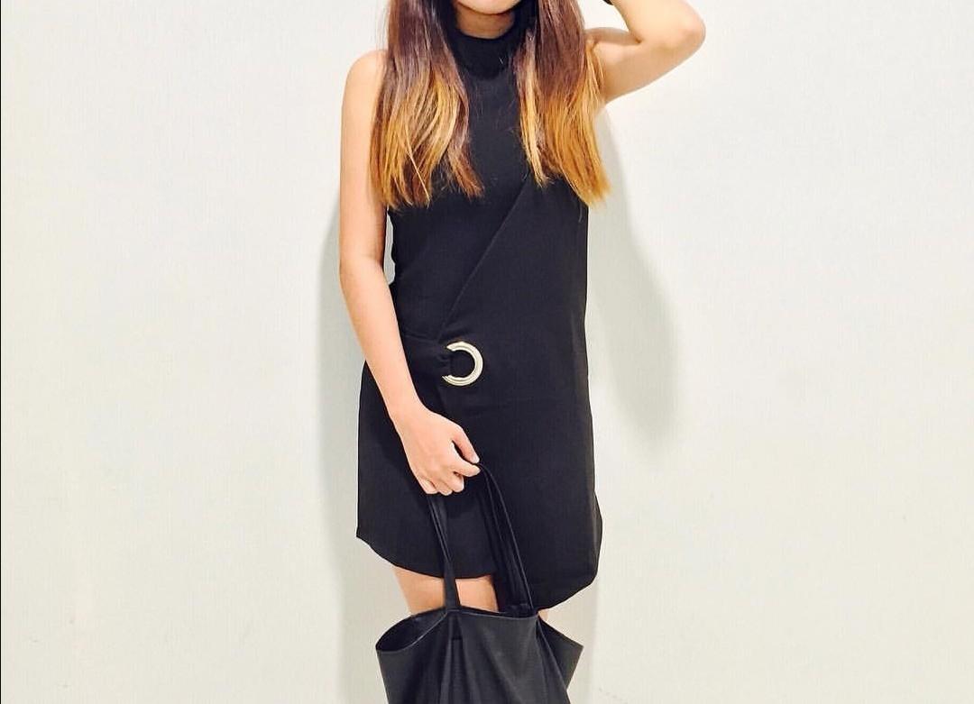Unique design Black dress