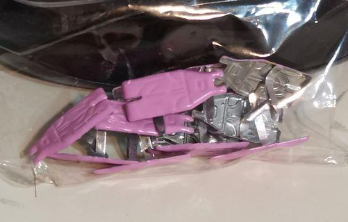 Scrapbooking pink (or blue) overalls Brads / paper fasteners (772-1/2 baby girl kids)