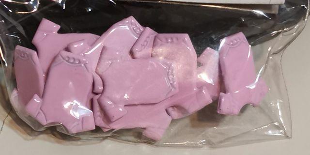 Scrapbooking pink (or blue) baby suit Brads / paper fasteners (773-1 /2 girl kids)