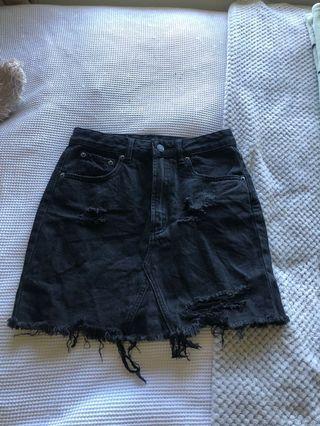 Glassons black denim skirt