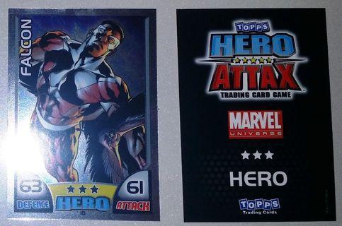 2011 Topps Hero Attax Series 1 #18 Falcon Mirror Foil Card