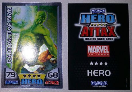 2011 Hero Attax Series 1 #26 Radioactive Man MirrorFoil Card