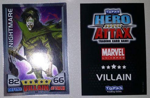 2011 Topps Hero Attax Series 1 #34 Nightmare MirrorFoil Card
