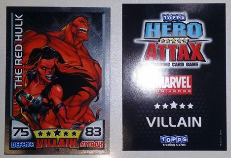 2011 Hero Attax Series 1 #39 The Red Hulk Mirror Foil Card