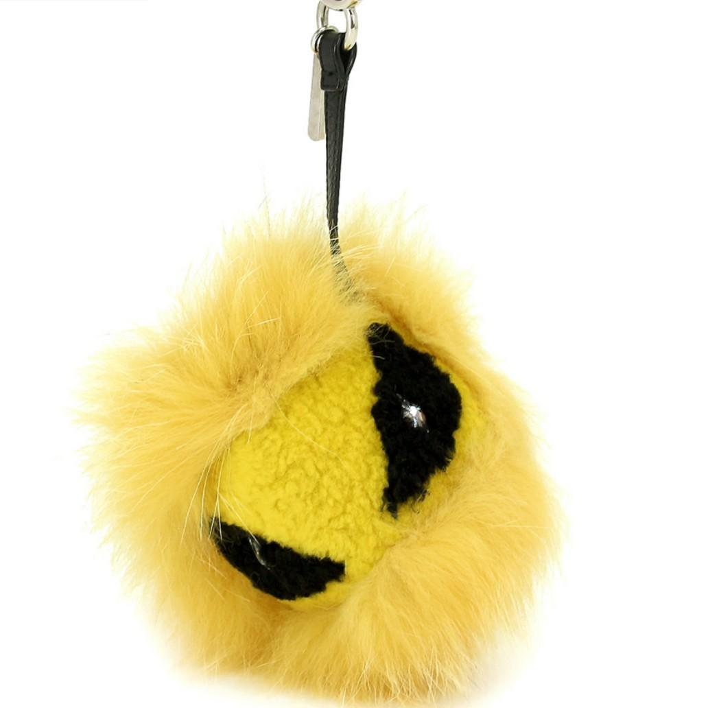 BRAND NEW ! - AUTHENTIC FENDI YELLOW MONSTER FUR CHARM - WITH BOX - BRAND NEW ! - (NOW RETAILS OVER RM 3000+)