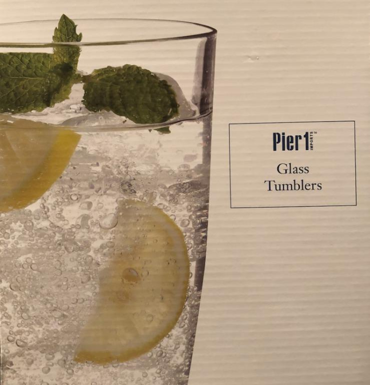 Brand new Pier 1 Imports Glass Drinking Cups Set of 4