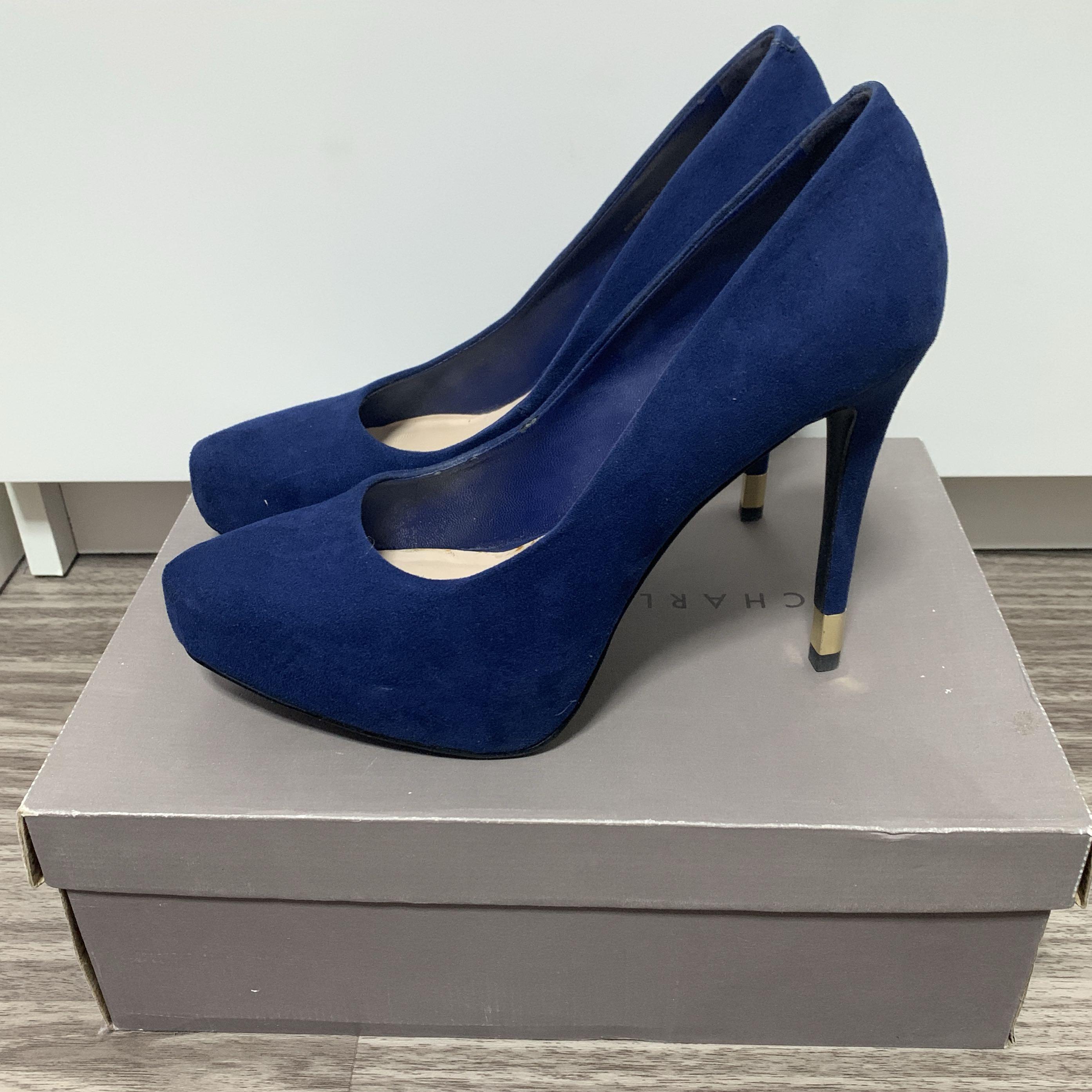Keith Navy Blue Platform Heels