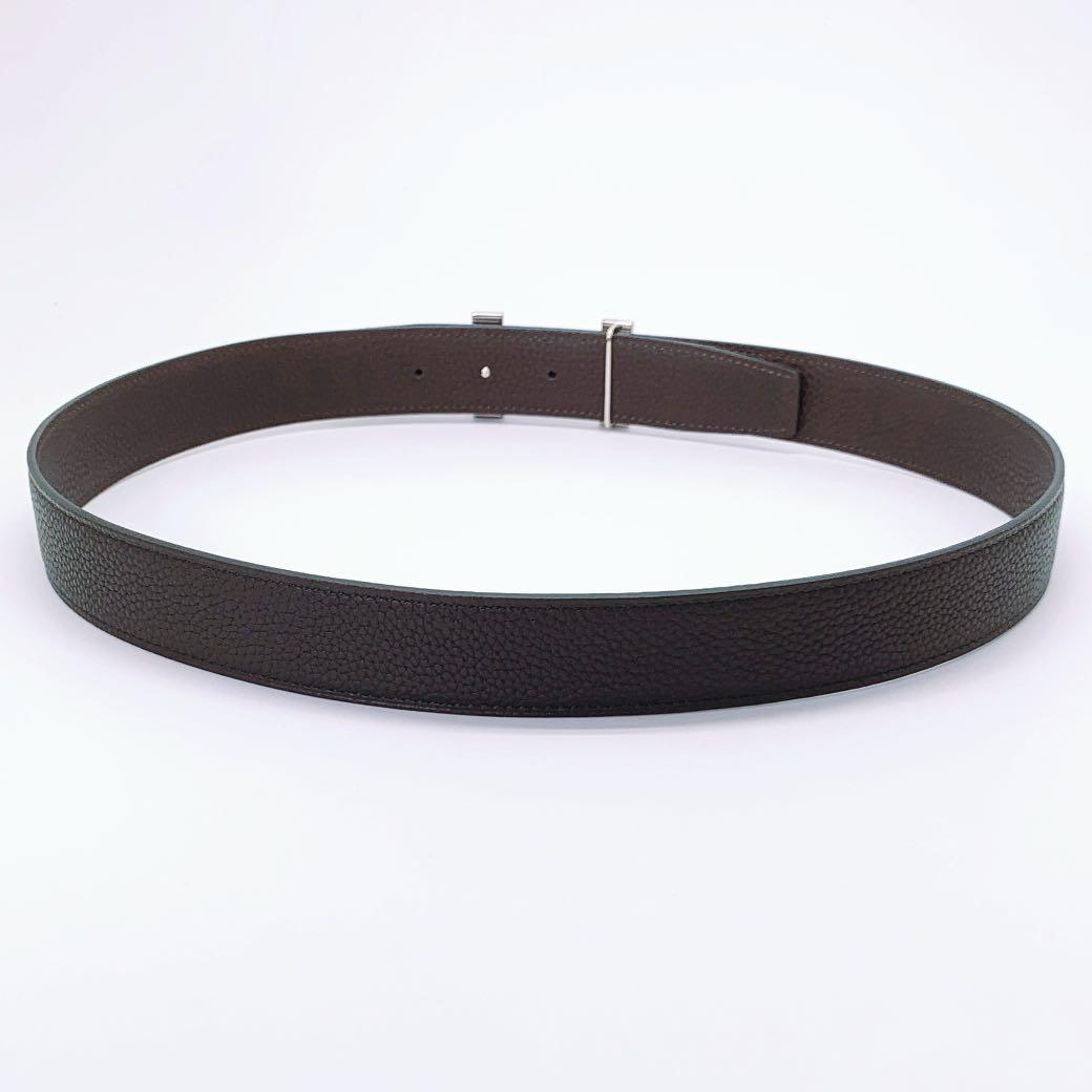 Handmade 32mm genuine calf leather reversible belt strap size 95, 100 also a replacement belt for Hermes 32mm buckle