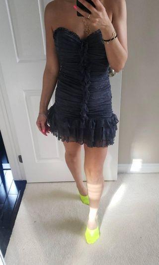 Bebe grey lace dress