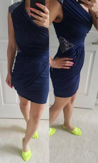Bebe navy blue dress