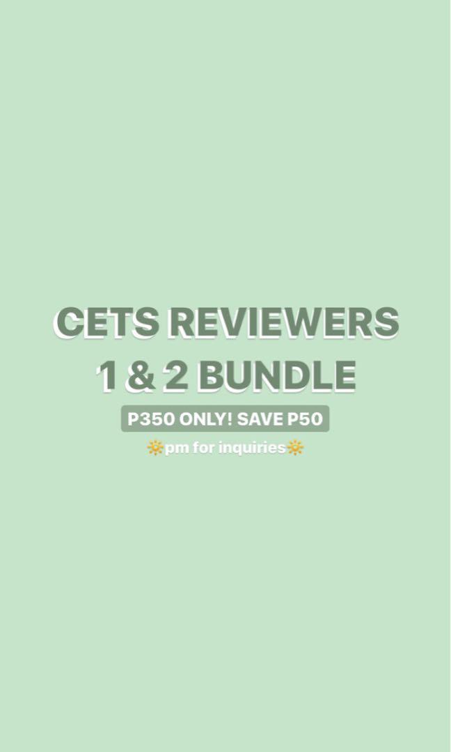 (READ DESCRIPTION) CETS & SAT reviewers bundle! (check listings & description for more details)