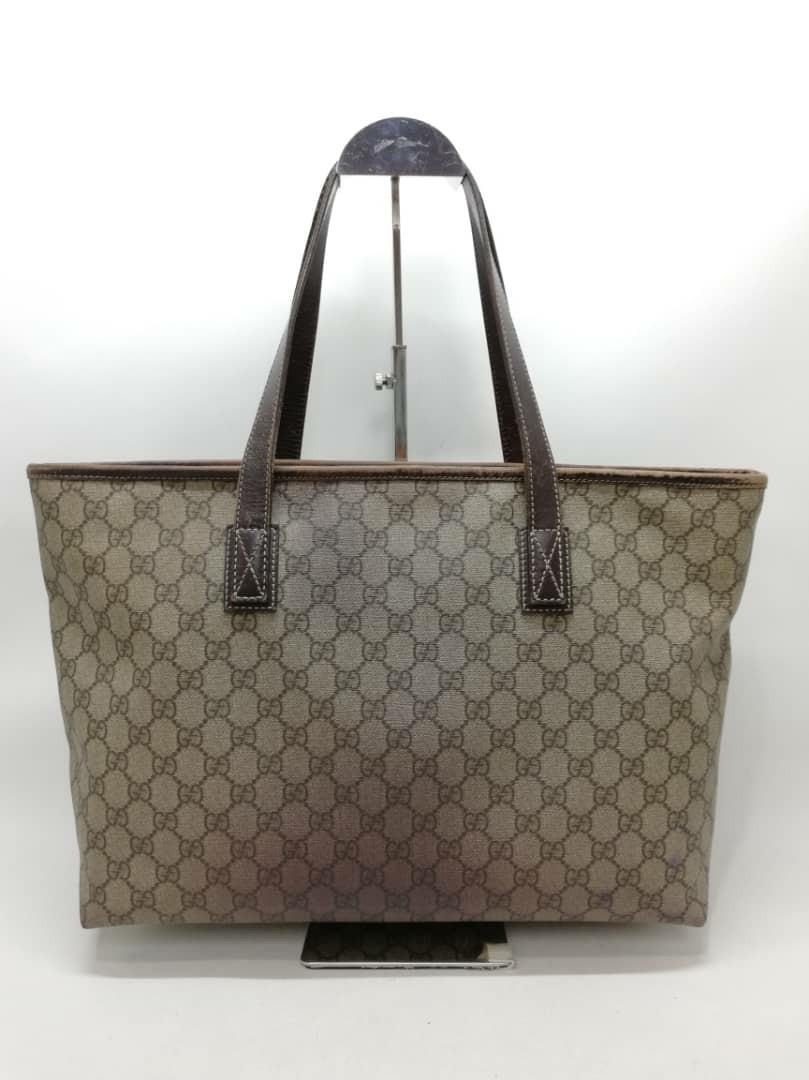 CHEAP DEAL - AUTHENTIC GUCCI MEDIUM SHOULDER BAG - GG MONOGRAM LOGO CANVAS - FAIR / USED CONDITION, CAN SEND BAG SPA -  SIZE 37 X 27 CM APPROX. - (BOUGHT AROUND RM 4000+)