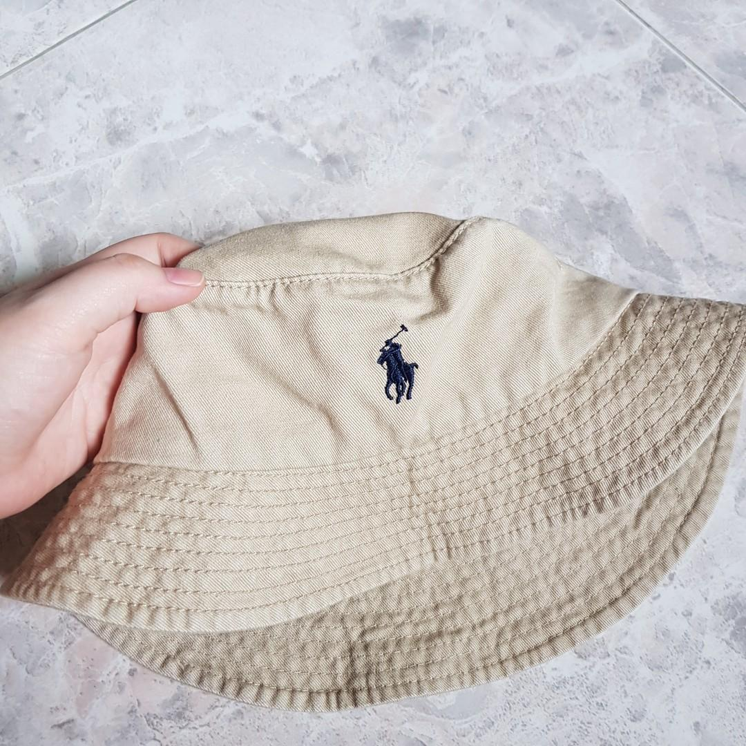 Polo Ralph Lauren Classic Bucket Hat Khaki Beige Women S Fashion Accessories Caps Hats On Carousell