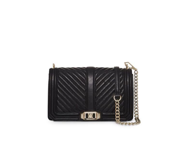 Rebecca Minkoff Love Letter Crossbody Bag in Black & Gold Hardware