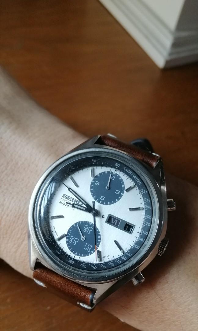 Seiko Panda 6138 8020 Automatic Chronograph moon watch Zenith
