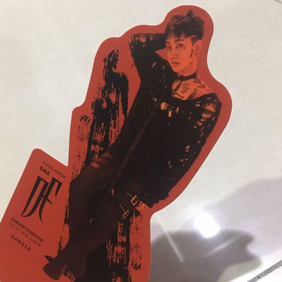 Super Junior D&E The 3rd Mini Album Danger Red Ver. Eunhyuk Hyukjae Standee