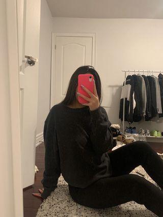 Brandy Melville thermal sweatshirt