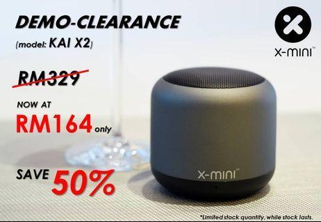 DEMO-X-mini KAI X2 Portable Speaker, Mystic Grey