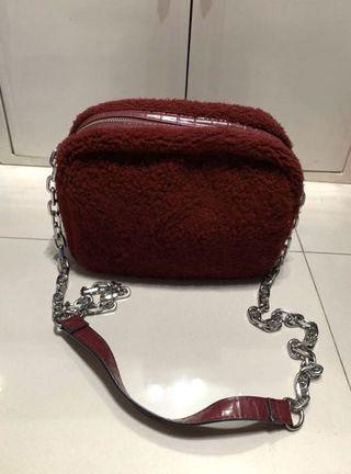 Stradivarius fur bag