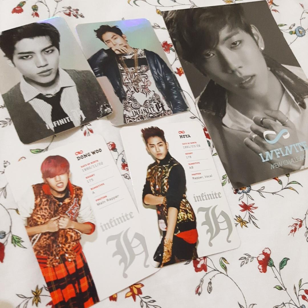 INFINITE F OFFICIAL PHOTOCARD & INFINITE DONGWOO - NEW CHALLENGE OFFICIAL POSTCARD
