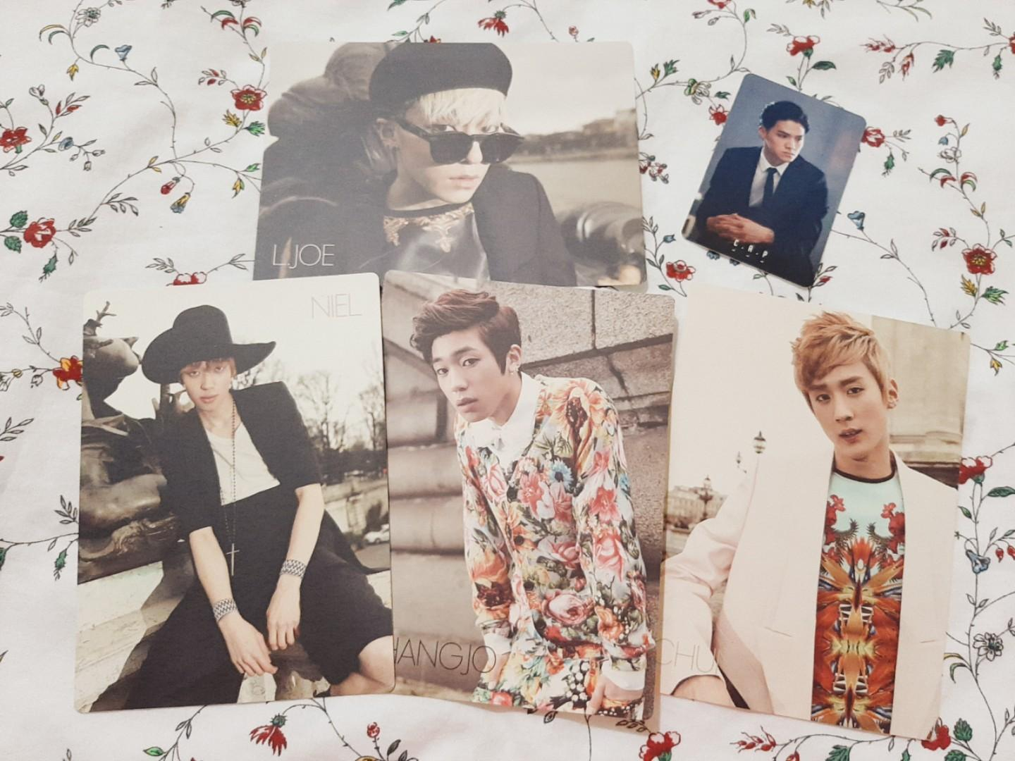 TEEN TOP OFFICIAL POSTCARD & TEEN TOP C.A.P EXITO OFFICIAL PHOTOCARD