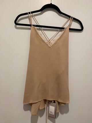 NWT Zara Strappy Back Camisole Top