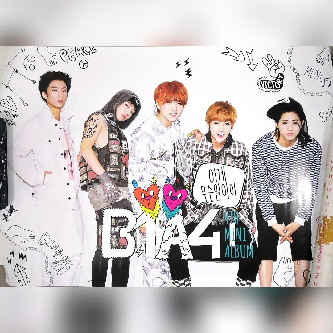 B1A4 What's Going On album + stickers Baro + poster