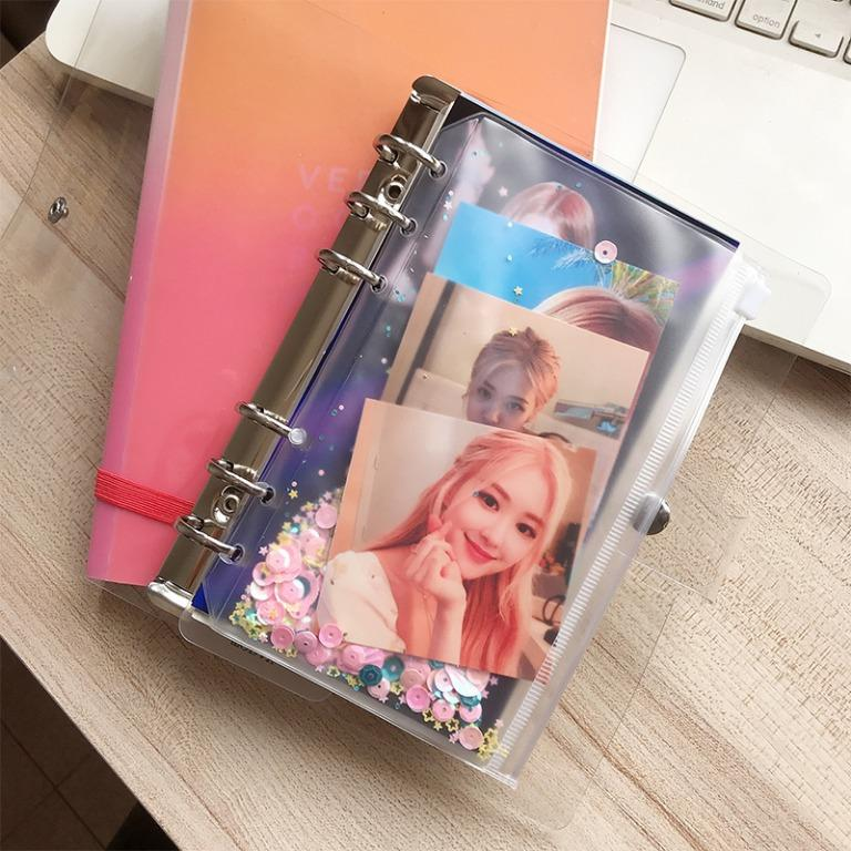 blackpink lisa / rose / jennie a6 transparent binder notebook